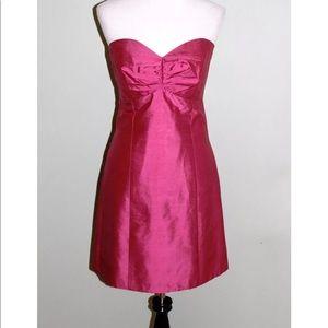 Jenny Yoo Dress Size 6 Pink Strapless Lined Silk